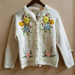 {Vintage} embroidered cardigan